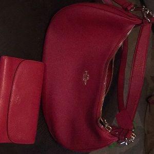 All leather Coach Crossbody w/wallet